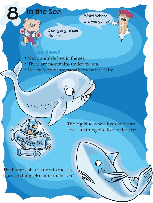 Grade 1 Reading Lesson 8 Picture Story In The Sea