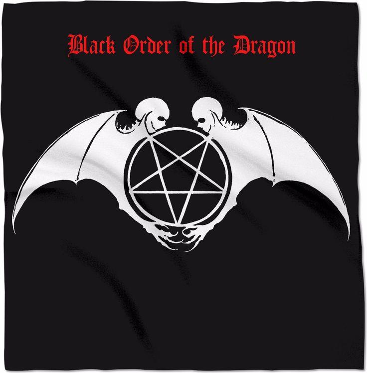 "Varcolaci Sigil Black Order of the Dragon 24"" x 24"" Altar Banner Cloth"