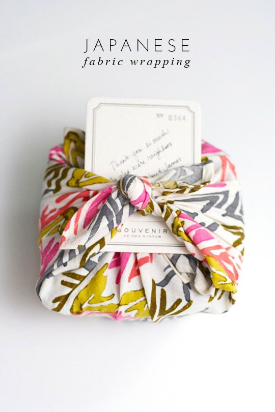 HOW TO WRAP GIFTS WITH FABRIC #wrap #packaging #japenese