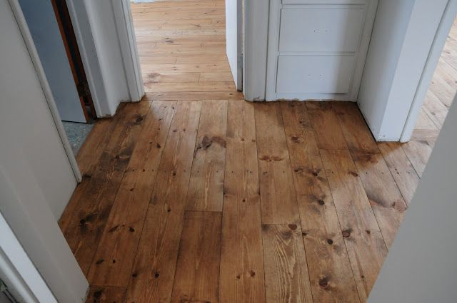 Plum Tree Place Floors Stained Minwax Early American On