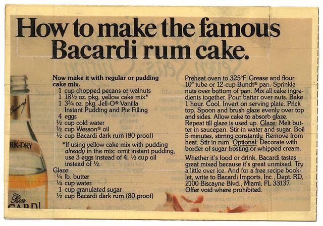 Best 25 Bacardi Rum Cake Ideas On Pinterest