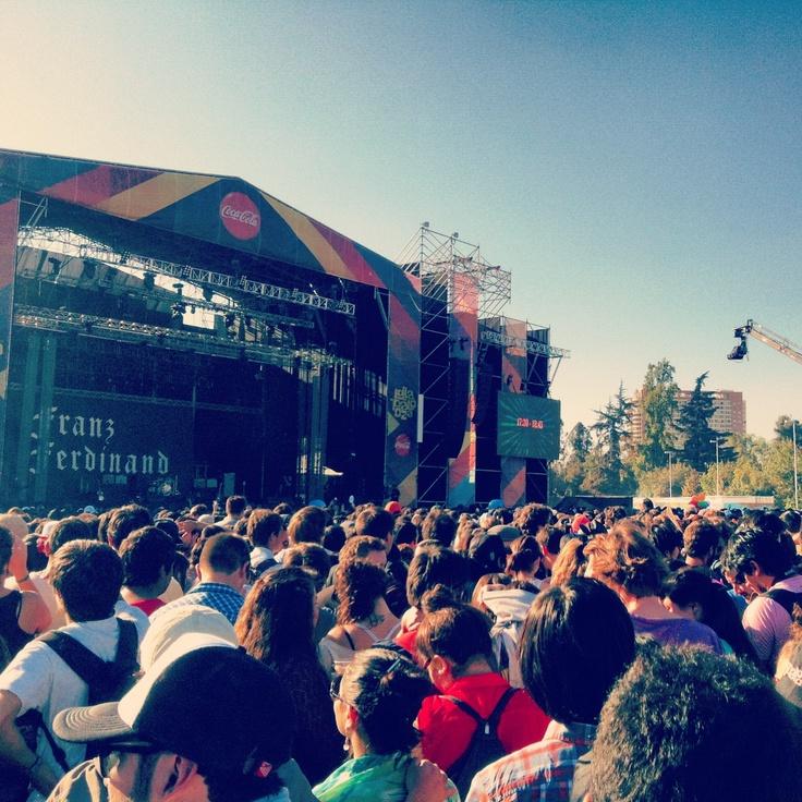 Franz Ferdinand - Parque O'higgins y Movistar Arena 6 y 7 de Abril 2013, Santiago de Chile.