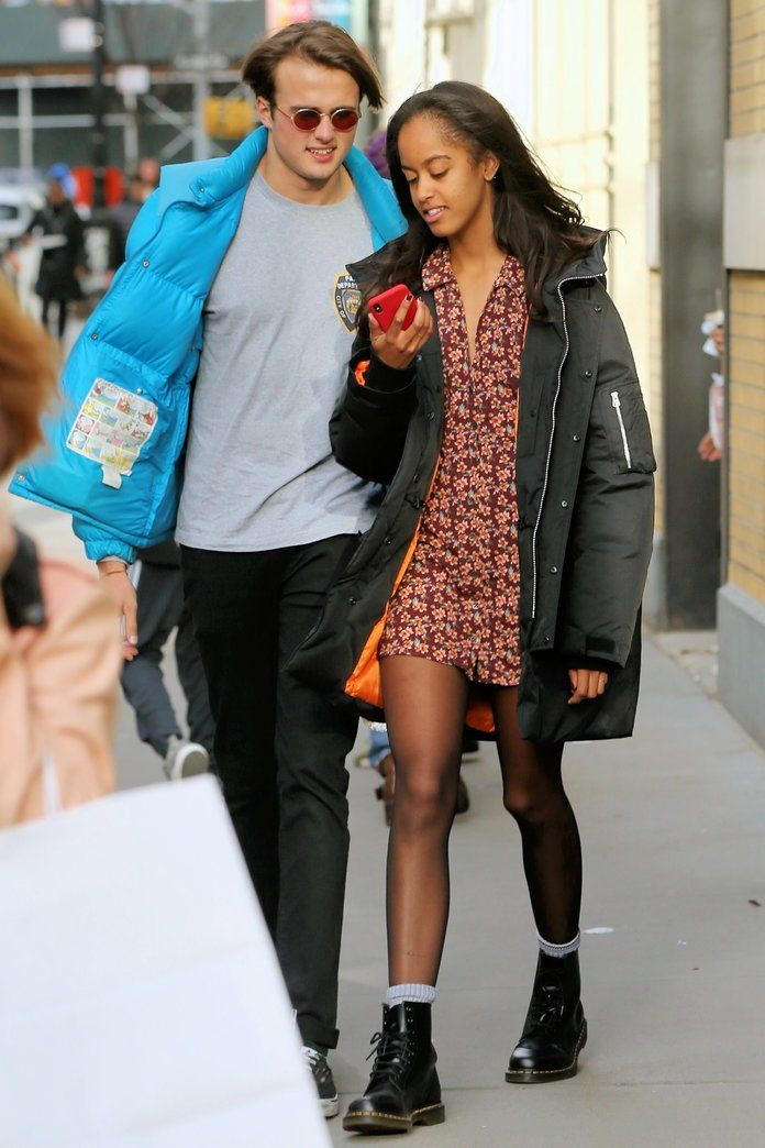 So how'd she make the summery piece work in the winter? A few layering essentials helped her get the job done.   http://www.instyle.com/fashion/malia-obama-urban-outfitters-dress #instyle #obama #urbanoutfitters