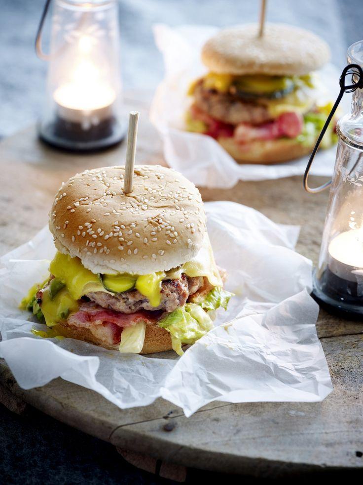 Heerlijke, hartige hamburger