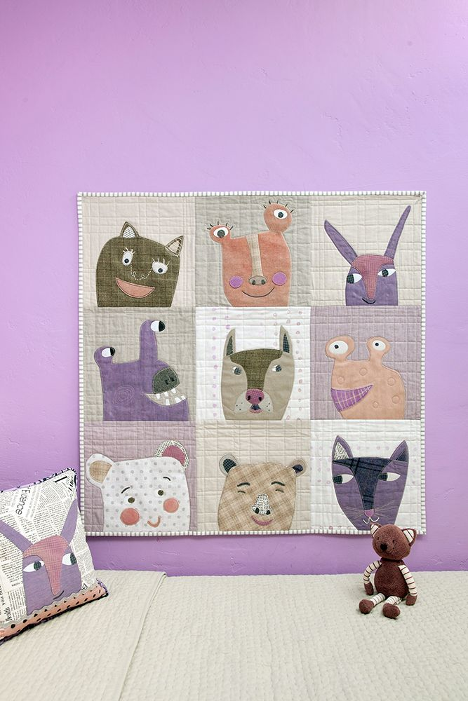 Children's quilt by Carrie Bloomston. Carrie is featured in the May/June/Jul '16 issue of Where Women Create magazine.