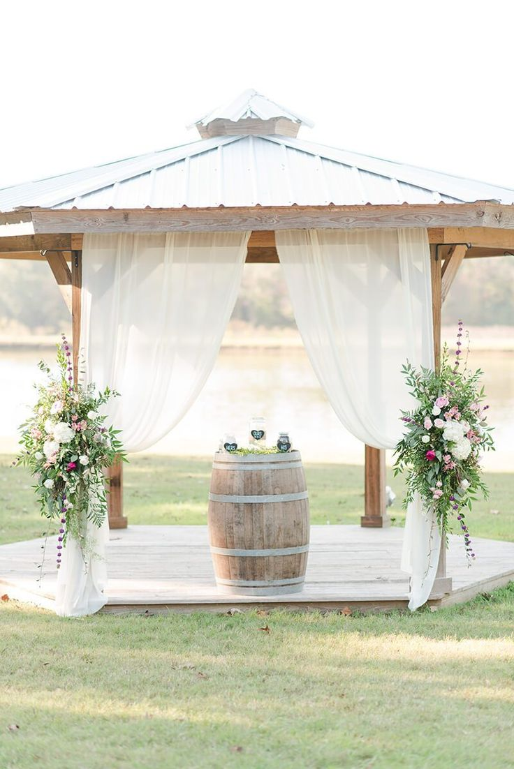 Rustic Chic Vineyard Wedding - Ceremony arch decor