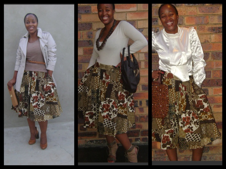 Khumo in a PuddingWorx brown upholstery skirt (R450)