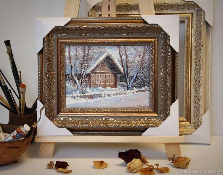 Купить картина маслом, зимний пейзаж в интернет магазине на Ярмарке Мастеров