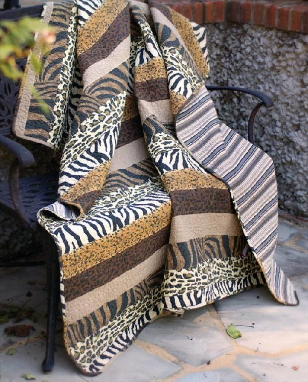 This Quilt Throw Is A Perfect Accent For Any Safari Theme
