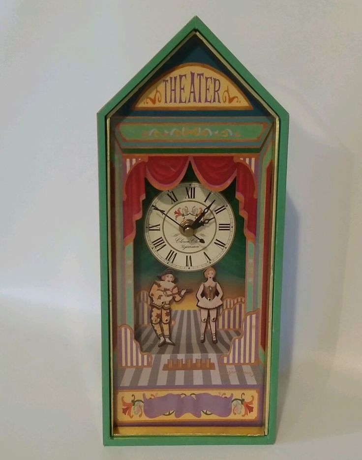 Vtg Koji Murai Clown Museum Theater Clock Amp Sankyo Music