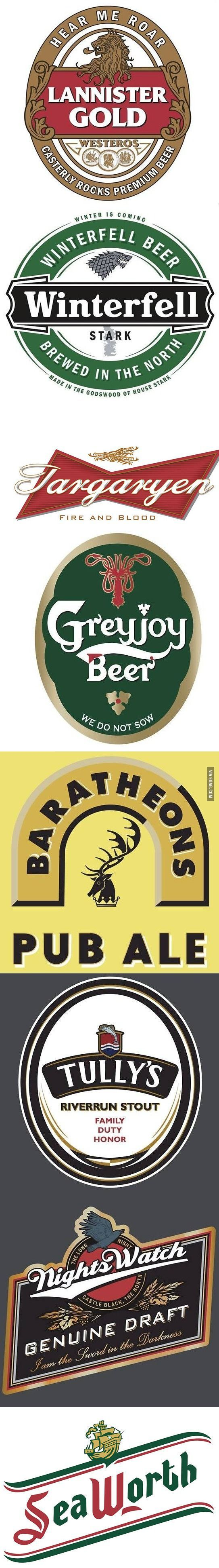 PRINTABLES: Game of Thrones beverage labels..  Medieval Halloween Game of Thrones Gathering Party Theme & Decorating Ideas Don't forget to come and see us at http://bakedcomfortfood.com!