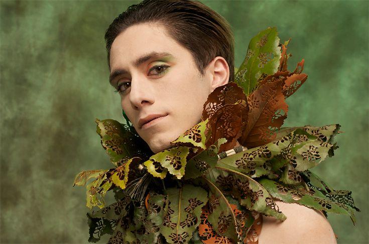 Nicole Dextras 'Lace Leaf Collar' Weedrobes Accessories 2005-10 - magnolia leaves