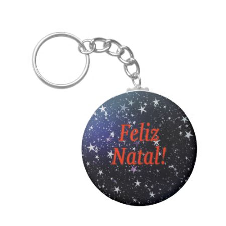 Feliz Natal! Merry Christmas in Portuguese rf Keychain