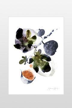 Ellos Home Blå/grön Poster Fikon 50x70 cm