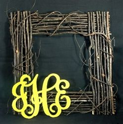 Square Script Grapevine Wreath Starter Kit