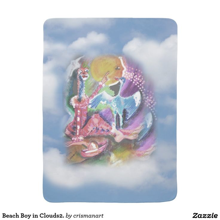 Beach Boy in Clouds2. Pram blankets