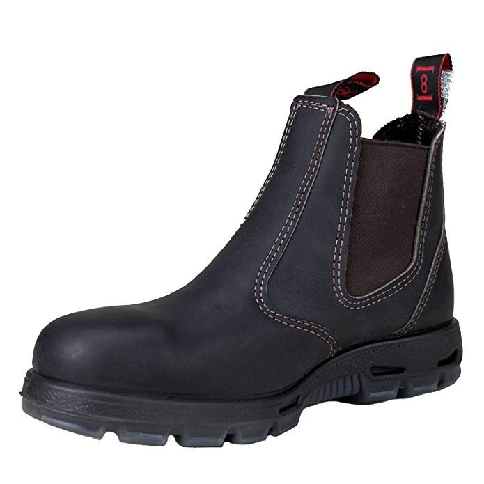Redback Men S Safety Bobcat Usbok Dark Brown Elastic Sided Steel Toe Leather Work Boot Review Boots Leather Work Boots Work Boots