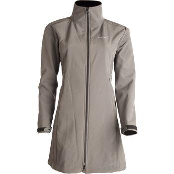 Campera de Mujer  SR-4074 Campera en softshell con dos bolsillos en el frente y capucha desmontable.