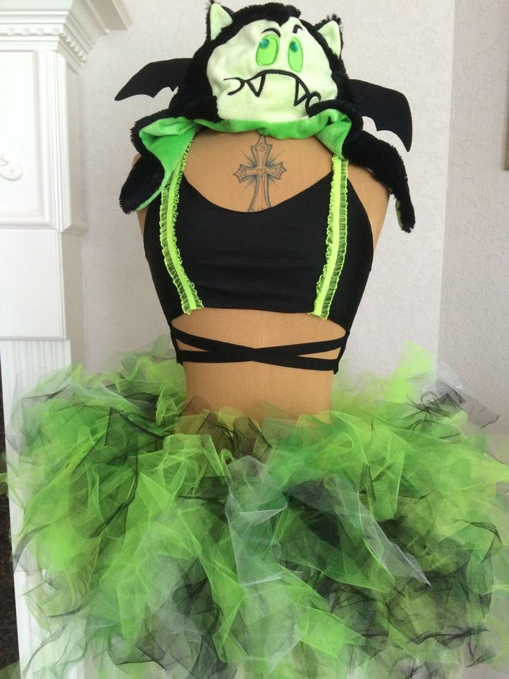A personal favorite from my Etsy shop https://www.etsy.com/listing/293667491/womens-edm-monster-outfit-hat-bra-tutu