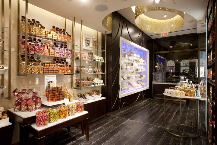 3D Wall Surround for Shelves - Godiva flagship store by d ash design New York