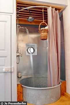 galvanized bathroom - perhaps a good outdoor shower idea or for a