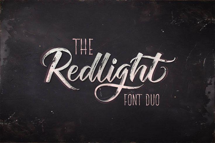 ⬇ Free download: Redlight Script – Font Duo