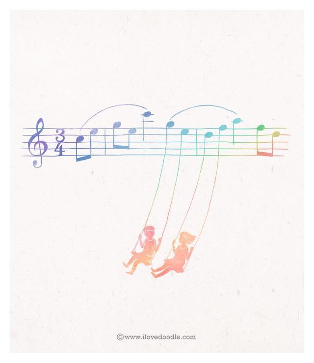 De niñas me dejaste deleitarme en el pentagrama de tu música, una melodía llamado amor de hermana.