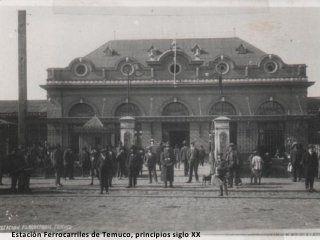 Temuco. Estación de Trenes de Temuco, principio de siglo XX