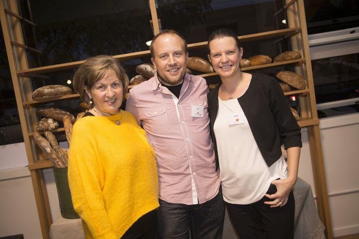 Elly Buckley (Ciderhaus), Tom and Hayley Hutton (Brasserie Bread).