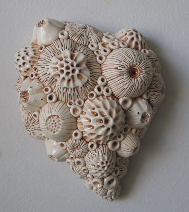 D Krueger Botanical Art. Ceramic sea urchin sculpture.