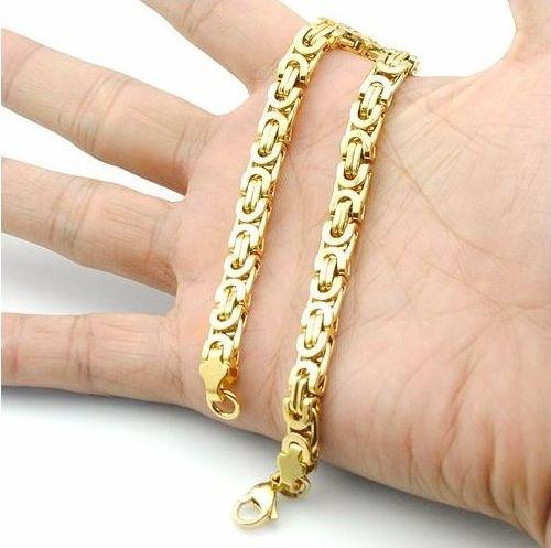 Lekker gull armlenke i forgylt rustfritt stål.