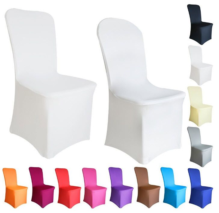 Create the look you want with a set of cheap wedding chair covers for 100 guests, colors, bows and other set sizes available.