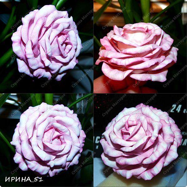 Мастер-класс Флористика искусственная Моделирование конструирование МК Чайно-гибридная роза из фоамирана Фоамиран фом фото 20