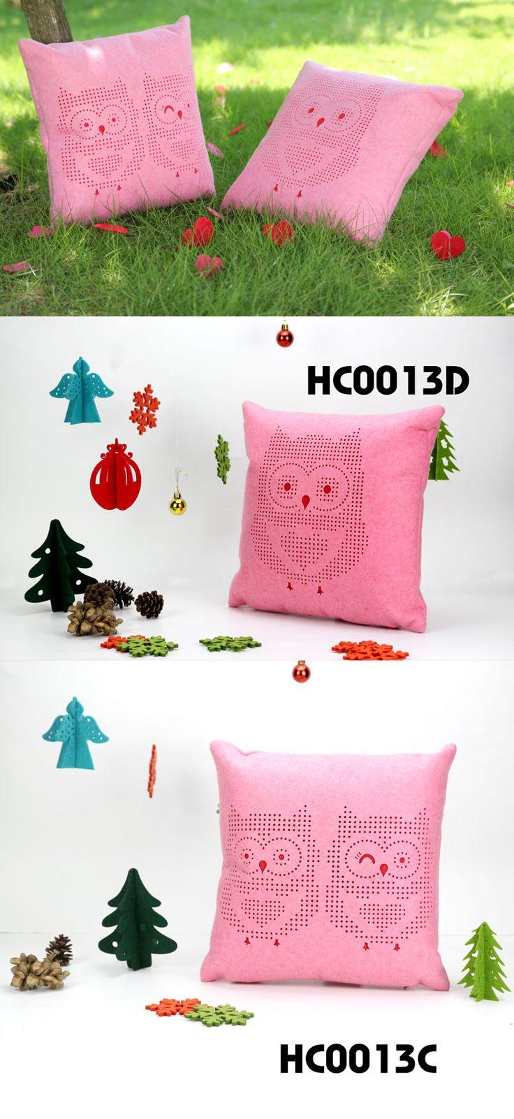 Owl pillow - felt material  -  2087bags.com