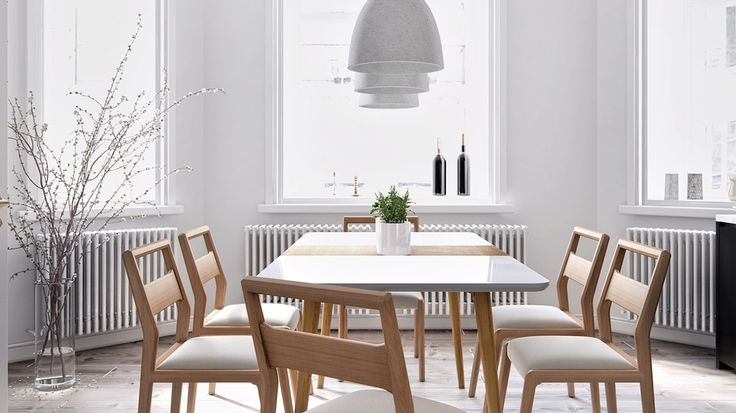 With Its Stylish Scandinavian Looks The White Powder Coated Marcus Dining Table Is Also Practical Featuring A Removable Timber Veneer Centre Panel And