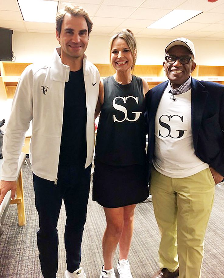 Savannah Guthrie Jack Sock Took on Roger Federer Bill Gates in Tennis Match