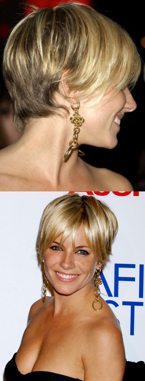 Sienna Miller Short Blonde Hair 2012 -  I love this bc it's not the angle I've had over and over