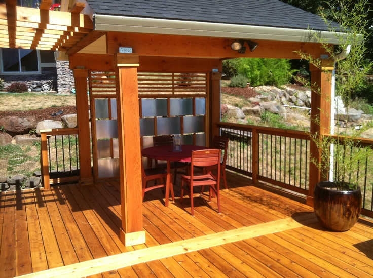 cedar deck with creative privacy panel pinterest creative. Black Bedroom Furniture Sets. Home Design Ideas
