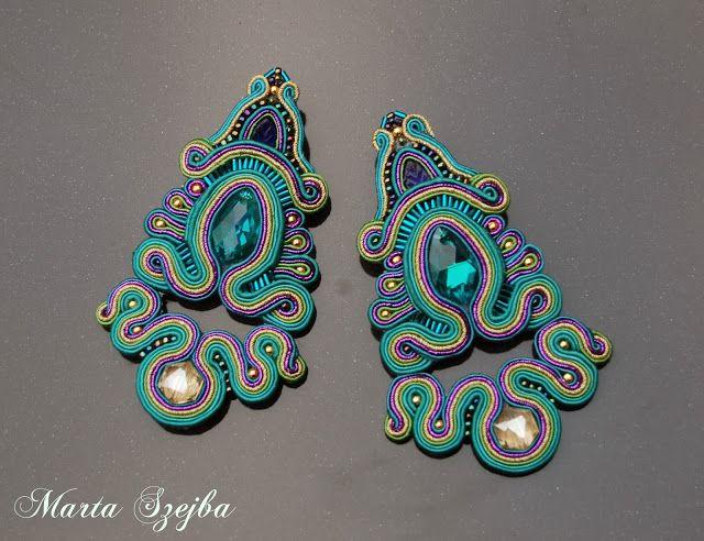 soutache inspiration: earrings by marta szejba