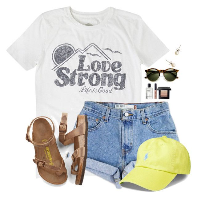 """~Finally back from Orlando and have a LOT from shopping~"" by flroasburn ❤ liked on Polyvore featuring Life is good, Levi's, Birkenstock, Bobbi Brown Cosmetics, J.Crew and Polo Ralph Lauren"