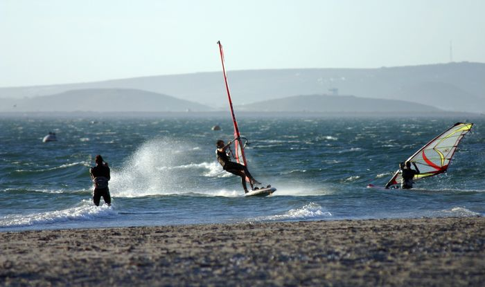 Windsurfing in Langebaan is one of the most dangerous and exhilerating adventures along the West Coast of South Africa.