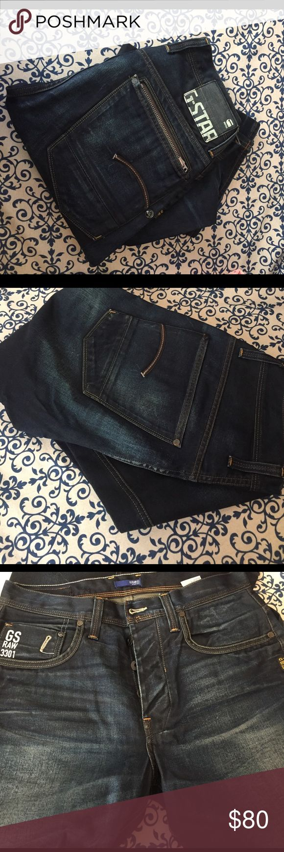 G-star raw jeans 32/34 Great condition. Too tight for my bf so only worn twice. Paid $180 new G-Star Jeans Slim Straight
