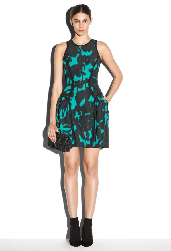 PANELED RAW-EDGE PARTY DRESS - Dresses - Sale - Shop By Category MILLY NY