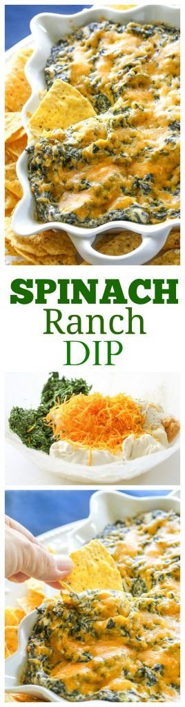 """This Spinach Ranch Dip is a twist on the classic spinach dip. Everyone will want to know what your """"secret"""" ingredient is. the-girl-who-ate-everything.com"""