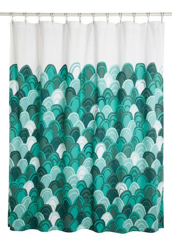 Chic-y Clean Shower Curtain. Youre so well-styled, even your showers dressed to perfection. #green #modcloth