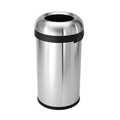 simplehuman 60 l Brushed Stainless Steel Bullet Open Top Trash Can-CW1407 - The Home Depot