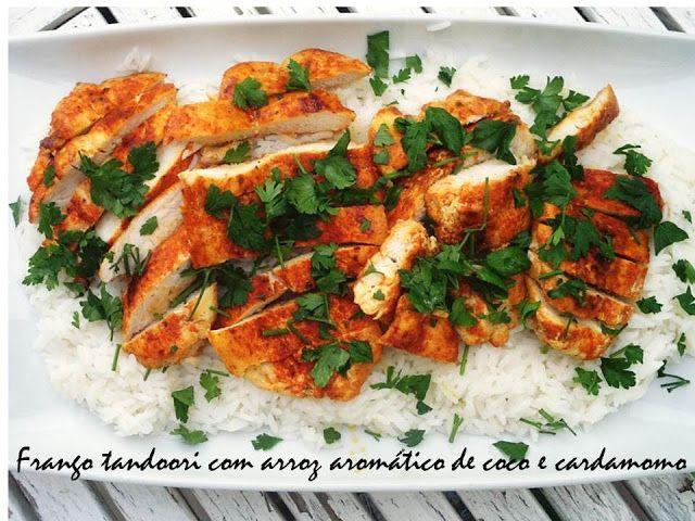 Frango Tandoori com arroz aromático de coco e cardamomo
