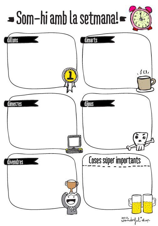 planning setmanal mr wonderful