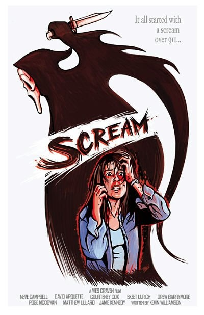 Scream movie poster Art Print by IBTrav