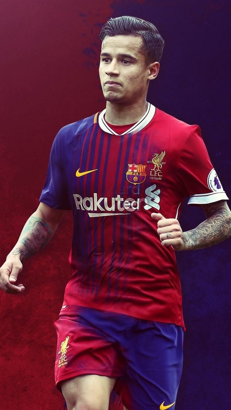 iPhone X Wallpaper Coutinho Barcelona Jugador de futbol